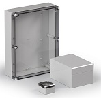 ABS Klemmenkasten IP66 grau + transparent